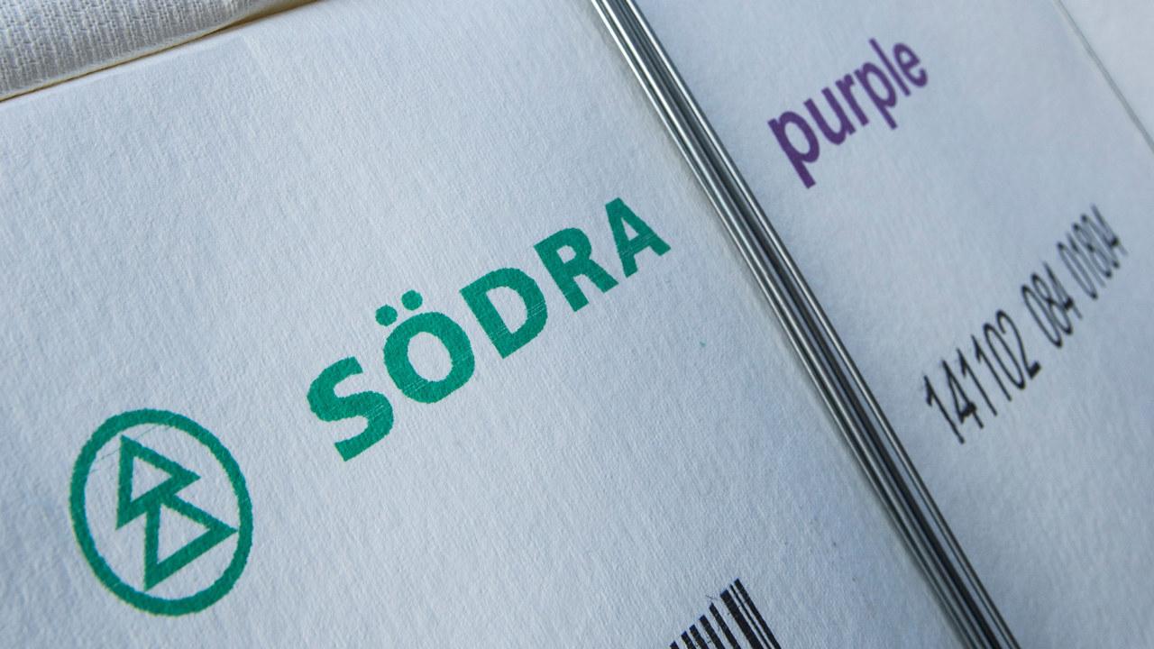 Södra purple bale - dissolving pulp